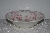 "**MBAMG #019-074    ""Queen's China Chelsea Toile Pink Round Vegdtable Serving Bowl"""