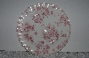 "**MBAMG #019-065  Set Of 4    ""Queens China Pink Chelsea Toile Dinner Plate"""
