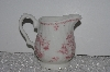"**MBAMG #019-078    ""Queens China Pink Chelsea Toile Creamer"""