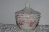 "**MBAMG #019-081   ""Queens Pink Chelsea Toile Sugar Bowl With Lid"""