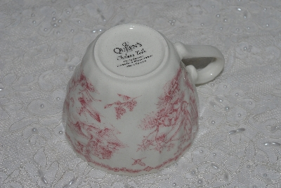 "+MBAMG #019-084    Aet Of 4   ""Queens China Pink Chelsea Toile Coffee Cup"""
