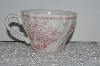 "**MBAMG #019-084    Aet Of 4   ""Queens China Pink Chelsea Toile Coffee Cup"""