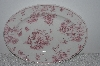 "**MBAMG #019-041   ""Queens China Pink Chelsea Toile  Oval Serving Platter"""