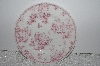 "**MBAMG #019-046  Set Of 4  ""Queens China Pink Chelsea Toile Salad/Desert Plate"""