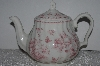 "**MBAMG #019-057   ""Queens China Pink Chelsea Toile Coffee Pot With Lid"""
