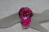 "*MBAMG #019-004   ""Pink Acrylic Toy Style Geneva Ladies Watch"""