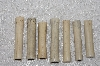 "**MBAMG #T06-181  ""1980's Set Of 7 Long Hand Made Bone Beads"""