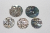 "**MBAMG #T06-034  ""1980's Set Of 5  Abalone Buttons"""