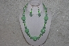 "+MBAHB #24-053  ""One Of A Kind Green Bead Necklace & Earring Set"""