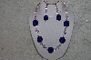 "+MBAHB #24-078  ""One Of A Kind Blue, Clear & Pink Bead Neklace & Earring Set"""