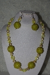 "+MBAHB #31-105  ""One Of A Kind Yellow Bead Necklace & Earring Set"""