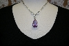 **Charles Winston Lavender Pear Drop Cz Necklace