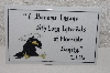 "**MBAMG #0031-173  ""E.A. Poe Quote  Ceramic Sign"""