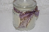"**MBAMG** #099-118  ""Set Of 2 Glass Incased Battery Operated Vanilla Scented Candle/Lavender Ribbon"""