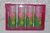 "**MBAMG #099-222  ""2002 Set Of 4 Pink Flamingo Acrylic Coolers"""