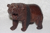 "**MBAMG #099-258  ""Hand Carved Growling Rose Wood Grizzly"""