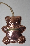"MBAMG #099-091  ""Vintage Large Copper/Lined Bear Cookie Cutter"""