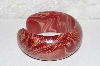 "**MBAHB #00013-8617  ""Exotic Red Mango Wood Cuff Bracelet Size Med/Large"""