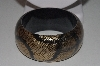 "**MBAHB #00014-8824  ""Teakwood  Hand Painted Snakeskin Bangle Bracelet"""