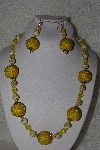 "+MBAHB #00015-9029  ""One Of A Kind Yellow Bead Necklace & Earring Set"""