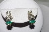 "MBAMG #00016-0136   ""Fancy Enameled Crystal Rhinestone Bunny Earrings"""