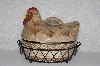 """SOLD""   MBAMG #00016-0189  ""Temtations Old World Brown  1 QT Rooster Baker With Wire Rack"""