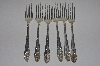"MBAMG #00016-0064  ""Set Of 6 Nickle Silver Pink Rose NO 5542 Forks"""