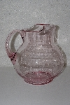 "**MBAAC #01-9490  ""Older Bright Pink Glass Pitcher"""