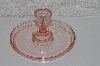 "**MBAAC #01-9463  ""Heart Handled Pink Glass Candy Dish"""