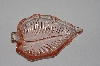 "**MBAAC #01-9466  ""Vintage Pink Glass Leaf Shaped Ash Tray"""