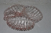 "**MBAAC #01-9485  ""Vintage Large Fancy Divided Pink Glass Serving Dish"""