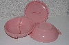 "**MBAAC #01-9443  ""Vintage 3 Piece Set Of Boontoon 1950's Pink Melmac Melamine Serving Dishes"""
