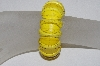 "**MBAAC #01-9371  ""Fancy Cut Dyed Yellow Howlite Gemstone Bead Stretch Bracelet"""