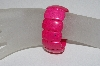 "**MBAAC #01-9369  ""Fancy DK Pink Dyed Howlite Gemstone Stretch Bracelet"""