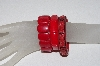 "**MBAAC #01-9379  ""3 Piece Set Of Red Bracelets"""