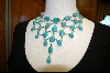 ** Blue Turquoise 31 Stone Draping  Necklace
