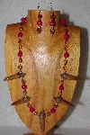 "MBAAC #02-9735  ""Valley Oak Acorn Beads, Rose & Honey Bead Necklace & Earring Set"""
