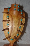 "+MBAAC #02-9790  ""Valley Oak Acorn Beads, Gold & Blue Bead Necklace & Earring Set"""