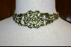 Vintage Look Green Crystal Chocker