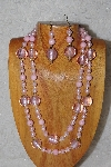 "+MBADS #04-814  ""Pink Bead Necklace & Earring Set"""