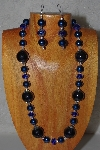 "MBADS #04-988  ""Blue Bead Necklace & Earring Set"""