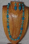 "MBASS #0003-0007  ""Blue Bead Necklace & Earring Set"""