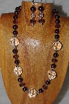 "MBAHB #58-0094  ""Clear & Purple Bead Necklace & Earring Set"""