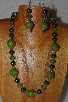 "MBAHB #58-0058  ""Green Bead Necklace & Earring Set"""