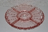 "**MBAVG #101-0028  ""Vintage Pink Depression Glass Serving Platter"""