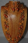"+MBAMG #100-0226  ""Orange Bead Necklace & Earring Set"""