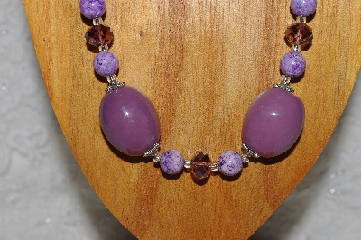 "MBAMG #100-0238  ""Purple Bead Necklace & Earring Set"""