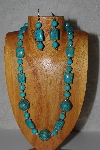 "MBAMG #100-0249  ""Blue Bead Necklace & Earring Set"""