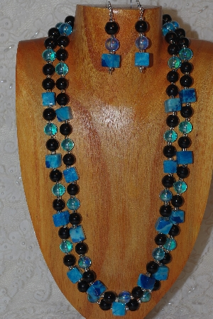 "MBAHB #033-0180  ""Crazy Lace Agate & Mixed Bead Necklace & Earring Set"""