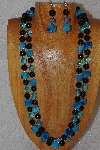 "+MBAHB #033-0180  ""Crazy Lace Agate & Mixed Bead Necklace & Earring Set"""